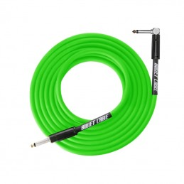 Bullet Thunder Cable 6.3mm Angled Jack, 3 Metres Green
