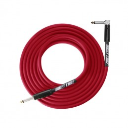 Bullet Thunder Cable 6.3mm Angled Jack, 3 Metres Red