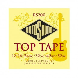 Rotosound Top Tape Strings Electric Monel Flatwound 12-52