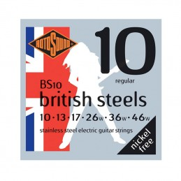 Rotosound British Steels BS10, Stainless Steel Electric Guitar Strings 10-46