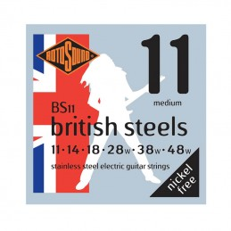 Rotosound British Steels BS11, Stainless Steel Electric Guitar Strings 11-48
