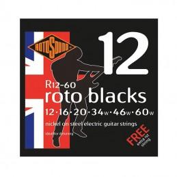 Rotosound Roto Blacks String Set Electric Nickel Wound 12-60