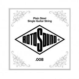 Rotosound NP008 Plain Steel Single String