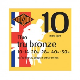 Rotosound Tru Bronze Acoustic 80/20 Bronze 10-50 Gauge