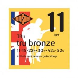 Rotosound Tru Bronze Acoustic 80/20 Bronze 11-52 Gauge
