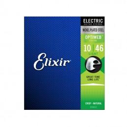 Elixir Optiweb Nickel Plated, Steel Strings 10-46
