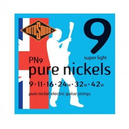 Rotosound PN9 Pure Nickels Guitar Strings 9-42