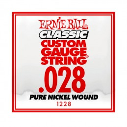 Ernie Ball Classic Slinky Pure Nickel Single String .028