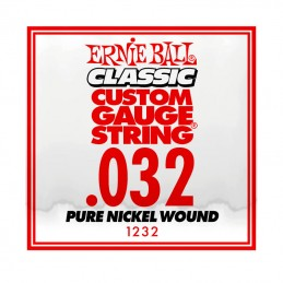 Ernie Ball Classic Slinky Pure Nickel Single String .032