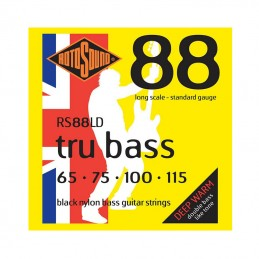 Rotosound RS88LD Tru Bass Black Nylon Flatwound Bass Strings 65-115