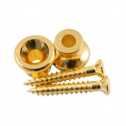 Kluson Gibson Style Strap Buttons Gold (Set 2)
